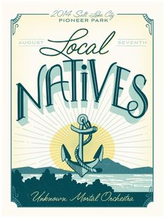 Local Natives Gig Poster Art Print