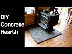 DIY Wood stove hearth. Simple and affordable concreat hearth in a day. Check out the full project https://www.youtube.com/watch?v=Ip31Z2Znks4 Don't Forget to Like Comment and Share! - http://ift.tt/1HQJd81