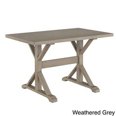 Exceptional Carolina Ansel Trestle Table (Weathered Grey)