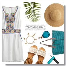 """Untitled #109"" by cqd2015 ❤ liked on Polyvore featuring Calypso St. Barth, Flora Bella, Aéropostale, Pier 1 Imports, Bling Jewelry and Chopard"