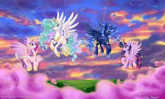 MLP: The Four Princesses In Flight