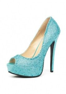 Bride Shoes: Aqua Rhinestone Peep Toe Glamour Heels review | buy, shop with friends, sale | Kaboodle