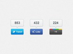 Share Buttons - Free PSD