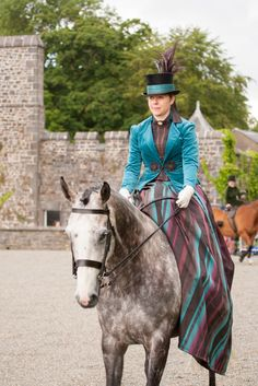 Side Saddle in Costume at Picton Castle - costume designed and made by Trish Daley Showtime Supplies http://www.showtimesupplies.co.uk/