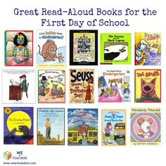 Great elementary resource list of Read-Aloud Books for the First Day of School.