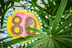 Árvore de alegrias: pedido especial para um aniversário de 80 anos.
