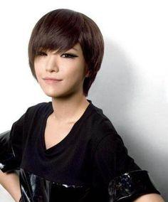 2017 Short Korean Hairstyles Layered Choppy Pixie