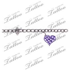 Marketplace Tattoo Spiderweb Heart Charm Bracelet Tattoo #2423 | CreateMyTattoo.com