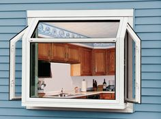 How to Use a Kitchen Garden Greenhouse Window Exterior view garden windows with casement side windows open The post How to Use a Kitchen Garden Greenhouse Window appeared first on Garden Diy. Kitchen Garden Window, Greenhouse Kitchen, Window Greenhouse, Home Greenhouse, Small Greenhouse, Garden Windows, Greenhouse Gardening, Kitchen Windows, Greenhouse Ideas