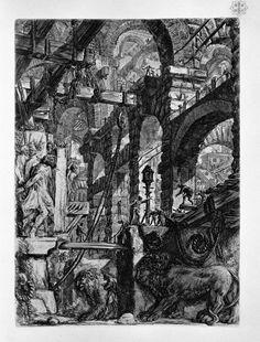 The Lion Bas-Reliefs - Giovanni Battista Piranesi
