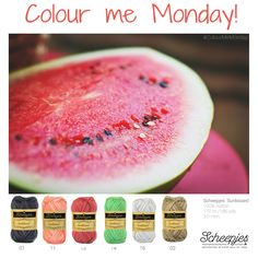 #colourmemonday, brought to you by www.scheepjes.com. Each Monday we release a new Inspirational Snapshot to help you plan your knit and crochet projects! #Scheepjes #Scheepjeswol