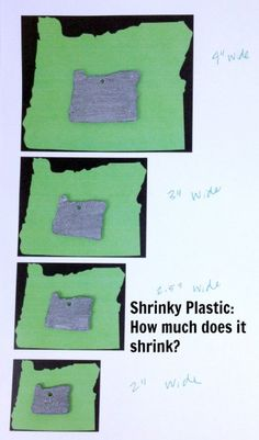 Shrinky Poastic: How much does it shrink?