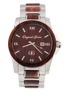 Original Grain Men's Indian Rosewood Wooden Watch