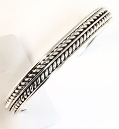 Native American Sterling Silver Indian Navajo Cuff C100401 Tahe Weighs 22 gram #NativeAmerican