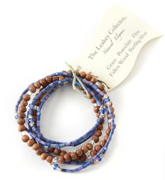 """""""I was very excited to find your website. I had order a bracelet from Isabella for myself and really liked it! I ordered one for both my sisters. Recently one of my sisters texted me to ask where I had purchased the bracelet? She sai."""" -Jackie V. Wood Bracelet, Bracelet Set, African Jewelry, Modern Jewelry, Fair Trade, Jewelry Design, Dusk, Leather, Handmade"""
