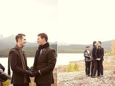 If I had to do it all over again I would love to get married alone in the mountains like these boys did.