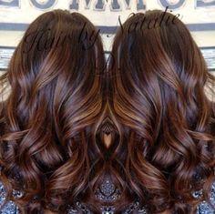long brown hair with caramel balayage