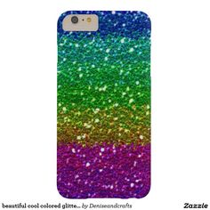 beautiful cool colored glitter case barely there iPhone 6 plus case