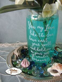 Faux Sea Glass Jars & Summer Centerpieces