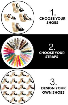 How to design your own shoes.  Interchangeable shoes. Change your straps, not your shoes.