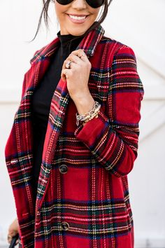 SHeIN fall favorites - Brittany Maddux - My Style Plaid Outfits, Winter Outfits, Casual Holiday Outfits, Holiday Clothes, Coats For Women, Clothes For Women, Oufits Casual, How To Wear Leggings, Long Wool Coat