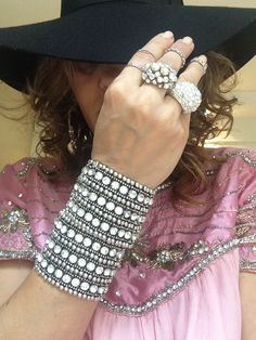 Jewelry is never too much for bohemian girl