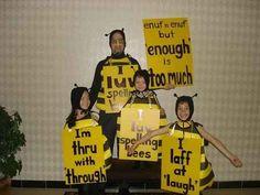 A Spelling Bee | 27 Halloween Costumes For Elementary School Teachers