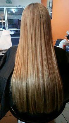 """Extenciones de cabello color 14/24 en 22"""" pulgadas"""