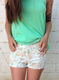 Floral shorts $38.50
