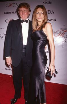 Portrait of American businessman Donald Trump and Melania Knauss (born Melanija Knavs) as they pose together on the red carpet at the 18th annual Council of Fashion Designers of America (CFDA) awards, New York, New York, June 2, 1999. (Photo by Rose Hartman/Getty Images) via @AOL_Lifestyle Read more: http://www.aol.com/article/lifestyle/2016/11/10/ivanka-trump-style/21603497/?a_dgi=aolshare_pinterest#fullscreen