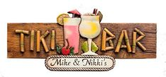 Tiki Bar Personalized Sign Large Version *** Click on the image for additional details.