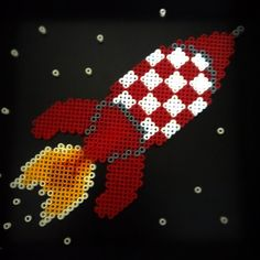 Rocket (Tintin) hama perler beads by jugoke