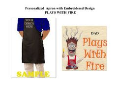 DAD Apron Men's Apron Father's Day Apron by CraftyWorldPlusbyShy, $24.99