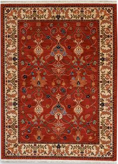 Karastan English Manor (2120) William Morris Red (00510) Area Rugs