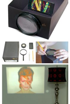 diy projector. This actually shows a picture of how it looks in use! :) COOL!!