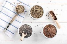 Chia, lněná, konopná: Jezte semínka, kdy to jde Hemp Seeds, Grain Free, Smoothies, Grains, Fitness, Smoothie, Seeds, Smoothie Packs, Korn