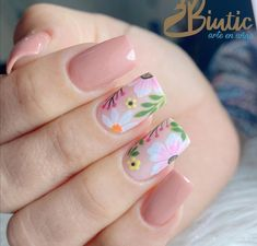 Spring Nail Art, Spring Nails, Karma Nails, Manicure E Pedicure, Flower Nails, Perfect Nails, Pretty Nails, How To Look Better, Nail Designs