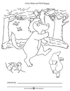A friend for mole finger puppets free activity sheet for Mole day coloring pages