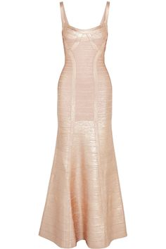 Rose gold bandage gown. $796  THE OUTNET.COM