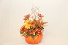 Fall centerpiece, pumpkin centerpiece, Floral centerpiece, Thanksgiving centerpiece by GldnMtnCraftsnDesign on Etsy