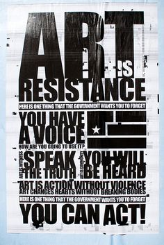 Nine Inch Nails . Art is resistance