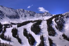 A-Basin, Colorado. One of the most fun (and one of the only!) places to ski or snowboard come end of April and May.
