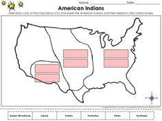 Native Americans Regions Map Blank Full Page King Virtues