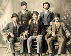 Butch Cassidy Wild Bunch Hole in The Wall Gang Hand Color Tinted Photo   eBay