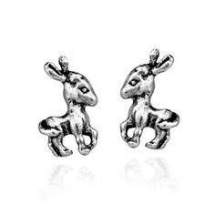 Lovely Baby Donkey .925 Sterling Silver Stud Earrings (Thailand) - 17443951 - Overstock.com Shopping - Great Deals on Aeravida Earrings