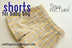 Crafting Zuzzy: Shorts for Baby Boy: free pattern