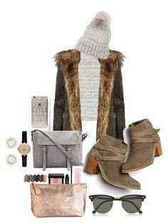 """""""Untitled #125"""" by sylvieraith on Polyvore featuring Rebecca Taylor, River Island, Monsoon, Eugenia Kim, Barbour, Lancôme, Smashbox, Bobbi Brown Cosmetics, Urban Decay and Ray-Ban"""