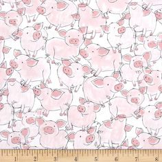 Timeless Treasures Babes in Farmland Pigs Pink from @fabricdotcom  From Timeless Treasures, this cotton print is perfect for quilting, apparel and home decor accents.  Colors include white, black and shades of pink.
