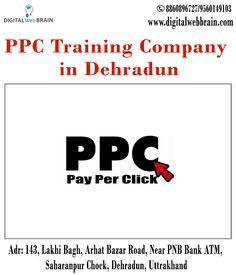 Now Enrol in PPC Training. We are leading PPC Training Company in Dehradun. Offering Best PPC Training at an affordable price. Classroom Training, Practical Learning, 120 hours of curriculum, Training by Experts · Weekend Training · Weekdays Training. Get contact details and address: http://bit.ly/2i5fLpt #PPCTrainingCompanyinDehradun #PPCTraininginDehradun #PPCCompanyinDehradun #PPCinDehradun