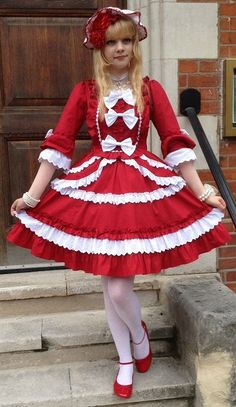 Girly Girl Outfits, Pretty Outfits, Cute Outfits, Style Lolita, Gothic Lolita Fashion, Petticoated Boys, Men Wearing Dresses, Mommys Girl, Frocks For Girls